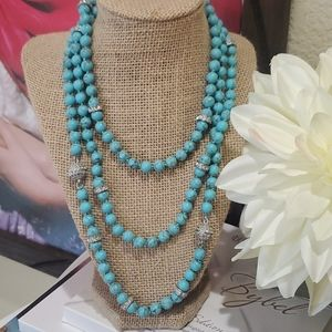 Stunning Convertable Magnetic Turquoise Necklace